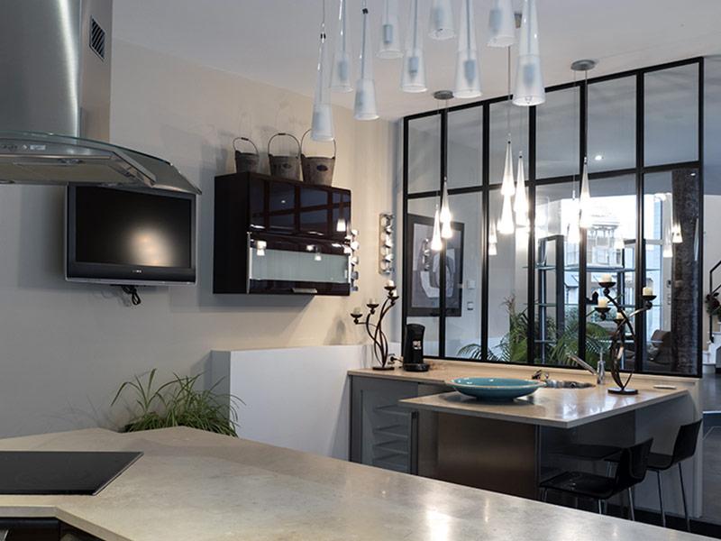 Espace Verrière : Verrière d\'Atelier - Cuisine - Intérieur Sur Mesure