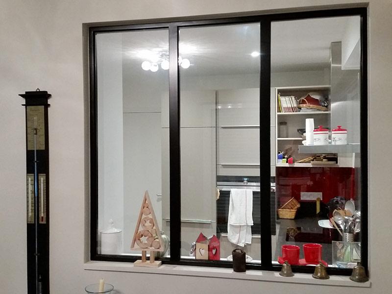 Espace Verrière Verrière D Atelier Cuisine Intérieur